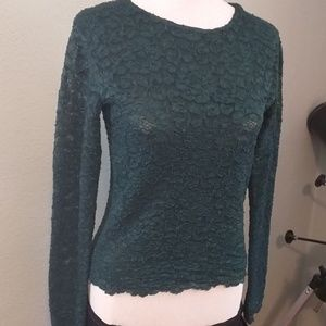 Long sleeve, lace top